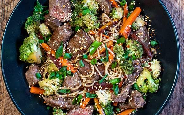 Mongolian Beef Noodle Stir Fry